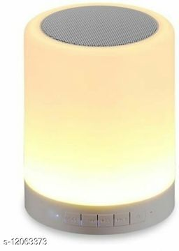 Touch Sensor Portable Wireless Bluetooth Speaker with Aux,USB and Micro SD Card Slot (Off White)