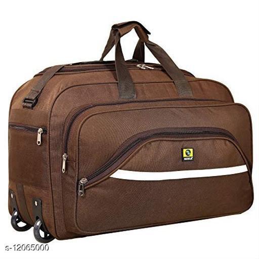 Trendy Men's Brown Polyester Duffel Bags