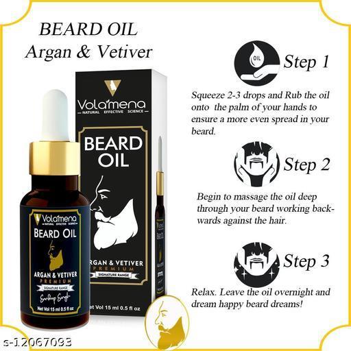 Volamena Argan Vetiver Premium Beard Oil For Men