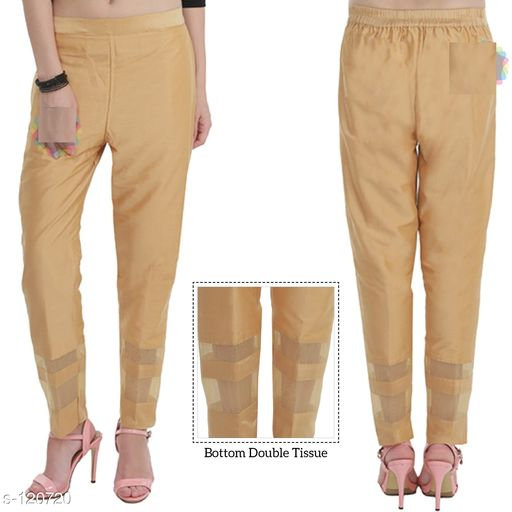 Western Bottomwear - Trousers & Pants Stylish Cotton Silk Bottom Wear  *Fabric* Bottom Wear - Cotton Silk 