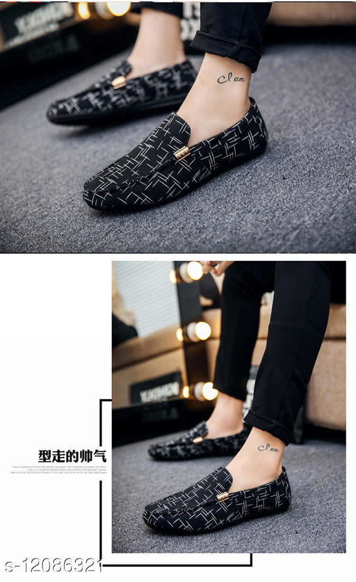 Stylish Men's Suede Black Loafers