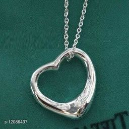 ARZONAI Trendy Heart Pendant Chain For Women and Girls