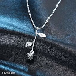 ARZONAI Trendy Rose Pendant Chain For Women and Girls
