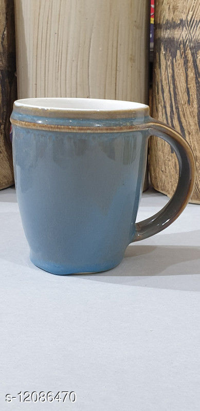 Pet Feeding Bowls Ceramic coffee/milk mug. Available in Shades of brown,grey and green, glaze. Microwave useable, easy wash and use. Quite handy and elegant.  Material  : Ceramic Pattern : Self Multipack : Pack of 1  Size : 4 inch high 4 inch wide Country of Origin: India Sizes Available: Free Size    Catalog Name: Trendy Cups, Mugs & Saucers CatalogID_2299166 C141-SC1702 Code: 132-12086470-