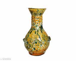 Zircon Hand Decorative Vase/Pot Yellow & Green Shade | Size(6x3 Inch)
