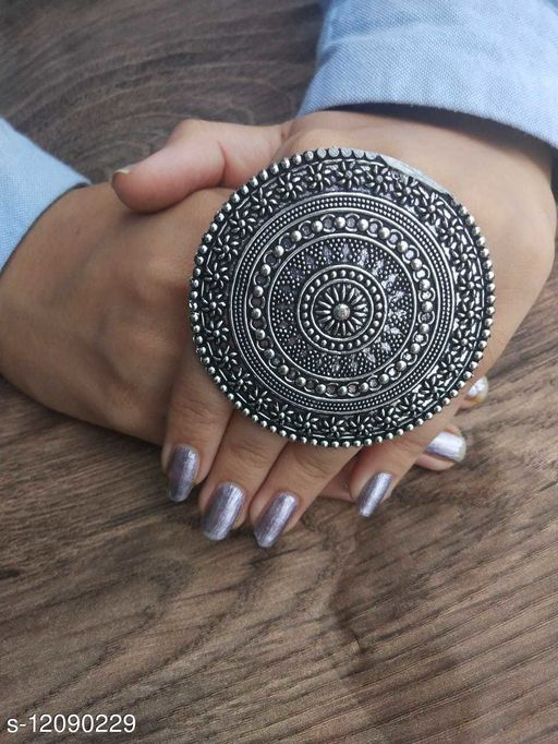 Oxidised Silver Elite Glittering Rings