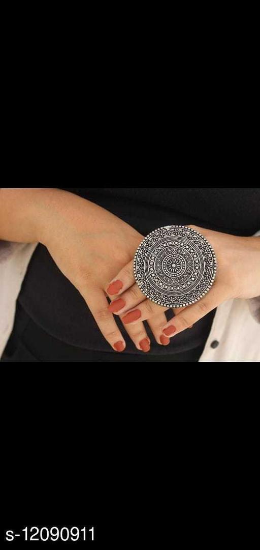 Oxidised Silver Twinkling Bejeweled Rings