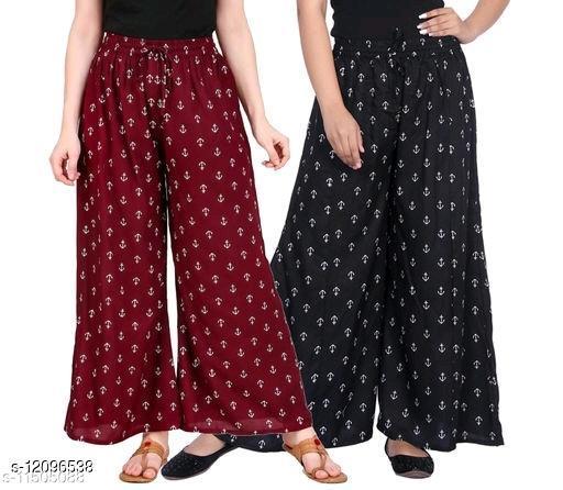 trendy Fancy Rayon Women's Palazzos combo 2pes
