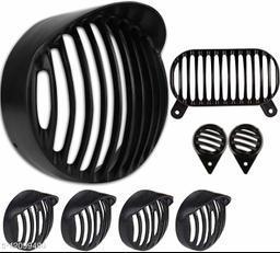 Yashinika Grill for Headlight Tail Light Parking Light Indicator Bike Headlight Grill (Black)