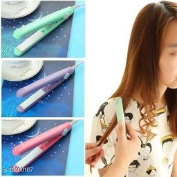 Mini Portable Electronic Hair Straightener set of 1pc( Colors may very)