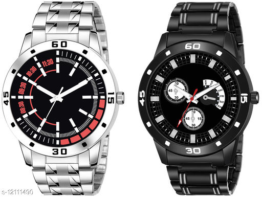 K26 & K58 Pack of 2 Attractive Combo With Steel Belt Watch Unique Dial With Unique And Exclusive New Analog Watches For Men & Men