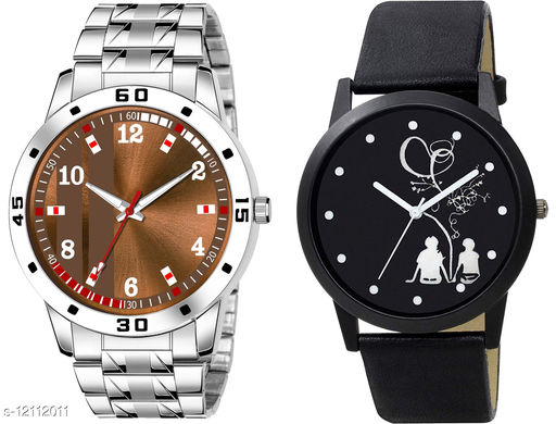 K28 & K471 Pack of 2 Attractive Combo With Steel Belt Watch Unique Dial With Unique And Exclusive New Analog Watches For Men & Men