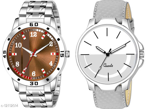 K28 & K484 Pack of 2 Attractive Combo With Steel Belt Watch Unique Dial With Unique And Exclusive New Analog Watches For Men & Men