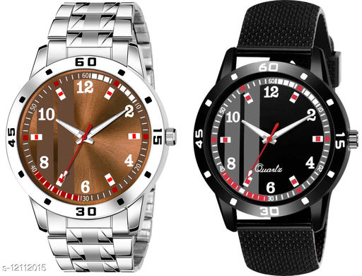K28 & K490 Pack of 2 Attractive Combo With Steel Belt Watch Unique Dial With Unique And Exclusive New Analog Watches For Men & Men