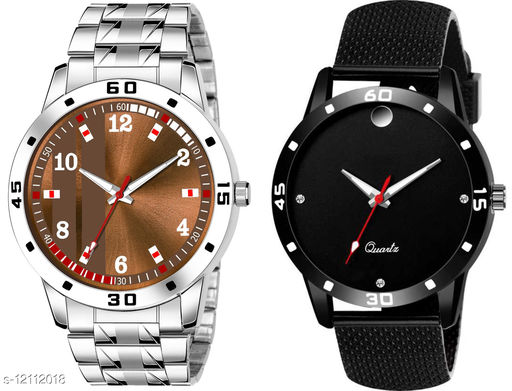 K28 & K489 Pack of 2 Attractive Combo With Steel Belt Watch Unique Dial With Unique And Exclusive New Analog Watches For Men & Men