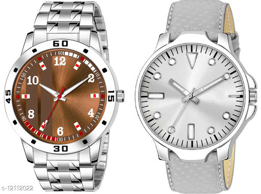K28 & K483 Pack of 2 Attractive Combo With Steel Belt Watch Unique Dial With Unique And Exclusive New Analog Watches For Men & Men