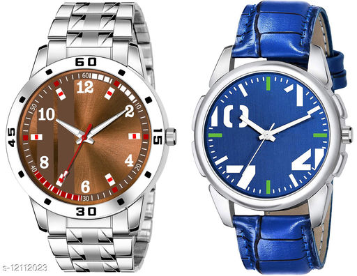 K28 & K475 Pack of 2 Attractive Combo With Steel Belt Watch Unique Dial With Unique And Exclusive New Analog Watches For Men & Men