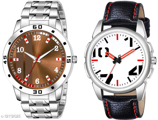 K28 & K476 Pack of 2 Attractive Combo With Steel Belt Watch Unique Dial With Unique And Exclusive New Analog Watches For Men & Men