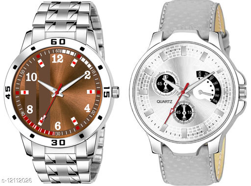 K28 & K482 Pack of 2 Attractive Combo With Steel Belt Watch Unique Dial With Unique And Exclusive New Analog Watches For Men & Men