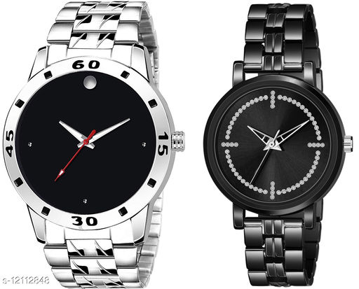 K30 & L982 Pack of 2 Attractive Combo With Steel Belt Watch Unique Dial With Unique And Exclusive New Analog Watches For Men & Women