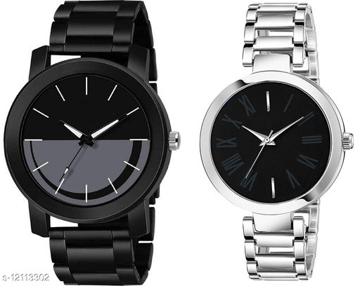 K33 & L862 Pack of 2 Attractive Combo With Steel Belt Watch Unique Dial With Unique And Exclusive New Analog Watches For Men & Women