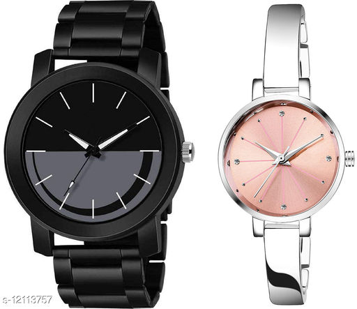 K33 & L781 Pack of 2 Attractive Combo With Steel Belt Watch Unique Dial With Unique And Exclusive New Analog Watches For Men & Women