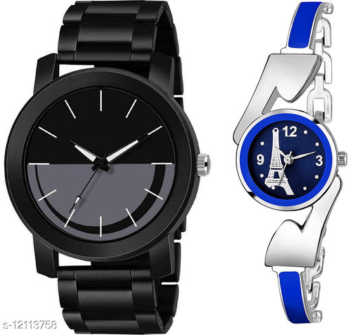 K33 & L810 Pack of 2 Attractive Combo With Steel Belt Watch Unique Dial With Unique And Exclusive New Analog Watches For Men & Women