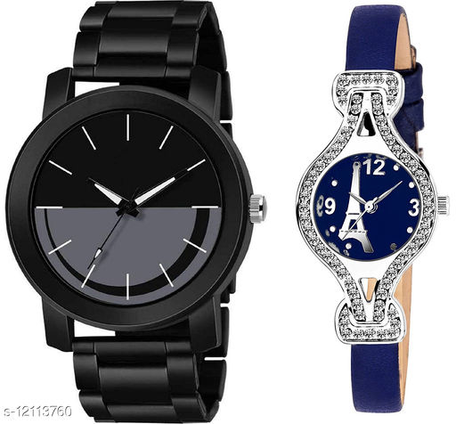 K33 & L809 Pack of 2 Attractive Combo With Steel Belt Watch Unique Dial With Unique And Exclusive New Analog Watches For Men & Women
