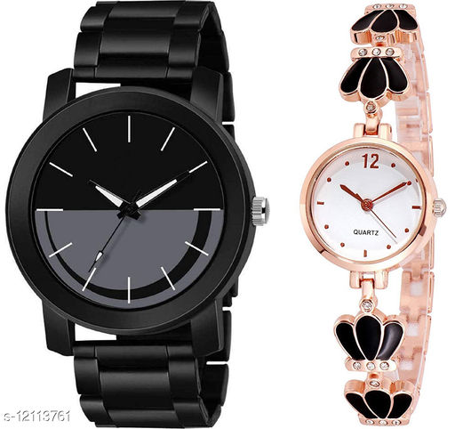 K33 & L791 Pack of 2 Attractive Combo With Steel Belt Watch Unique Dial With Unique And Exclusive New Analog Watches For Men & Women
