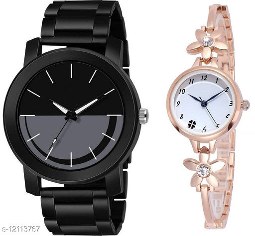 K33 & L793 Pack of 2 Attractive Combo With Steel Belt Watch Unique Dial With Unique And Exclusive New Analog Watches For Men & Women