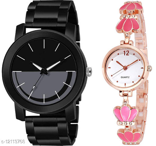 K33 & L792 Pack of 2 Attractive Combo With Steel Belt Watch Unique Dial With Unique And Exclusive New Analog Watches For Men & Women