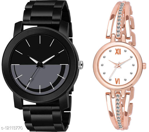 K33 & L796 Pack of 2 Attractive Combo With Steel Belt Watch Unique Dial With Unique And Exclusive New Analog Watches For Men & Women