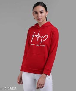 Full sleeve solid women sweatshirts