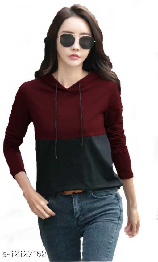 Shopping Monk Stylish Women Hooded Neck Sweatshirt