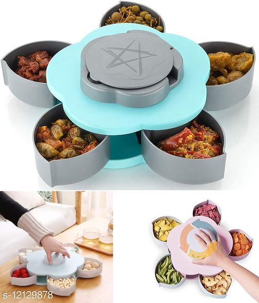 Krivish Multicolor Rotating Box For Mouth Freshner, Candy, Chocolate, Snack, Masala, Spice & Dry Fruits Storage Container Holder (1 Pc)