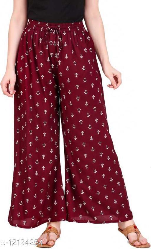 Gurara Anchor Soft Rayon Women's Regular Fit Printed Maroon (Free Size)