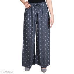 Gurara Anchor Soft Rayon Women's Regular Fit Printed Grey (Free Size)
