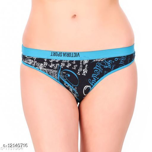 Women Hipster Blue Hosiery Panty