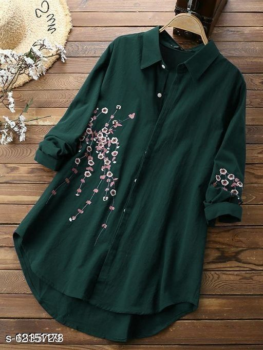 Woman rayon embrodry top