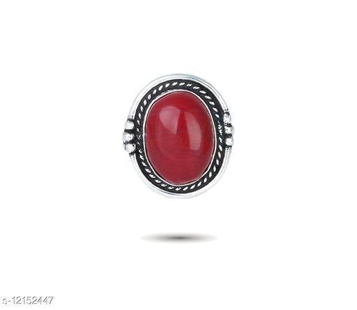 Elegant And Stylish Silver Oxidised Adjustable Fashion Ring For Women And Girls