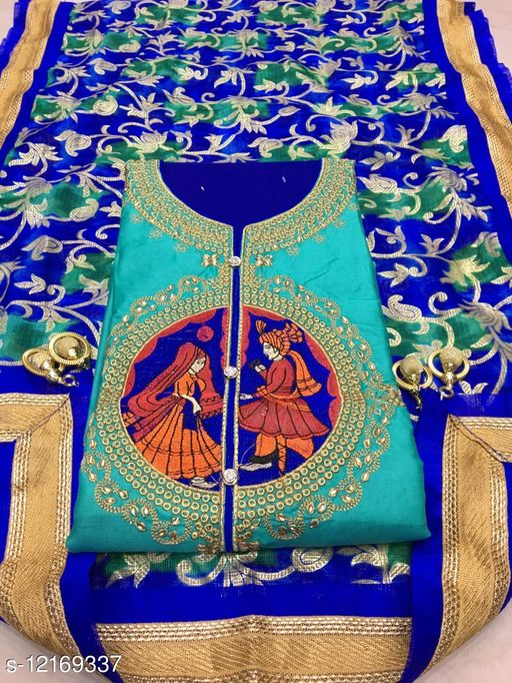 Beautiful Women's Semi Stitched Suit