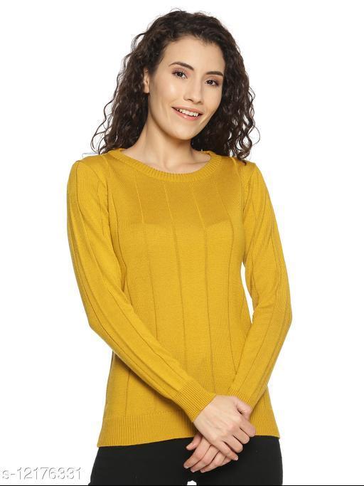 Women Mustard Sweaters