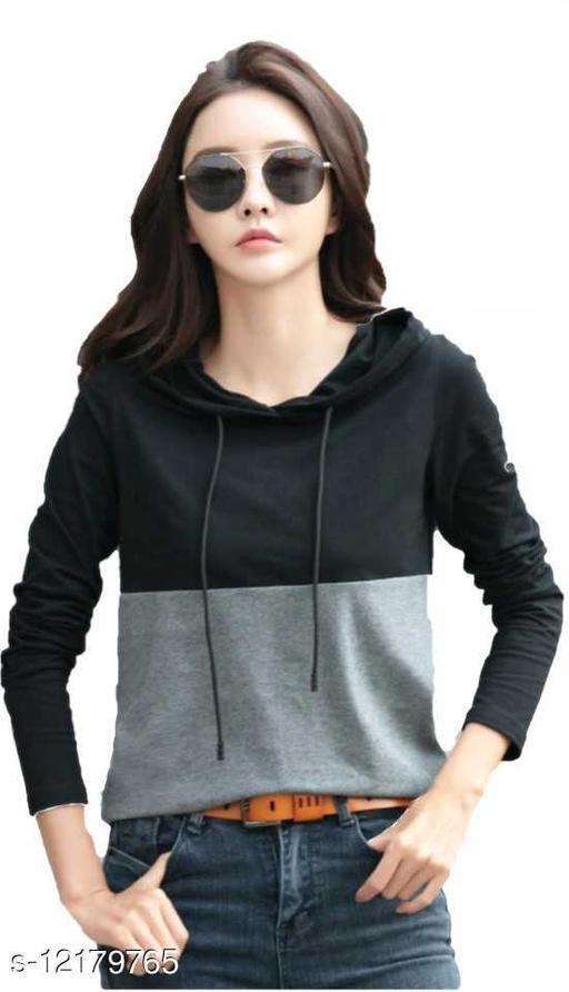 women's cotton hoodies t-shirt/top