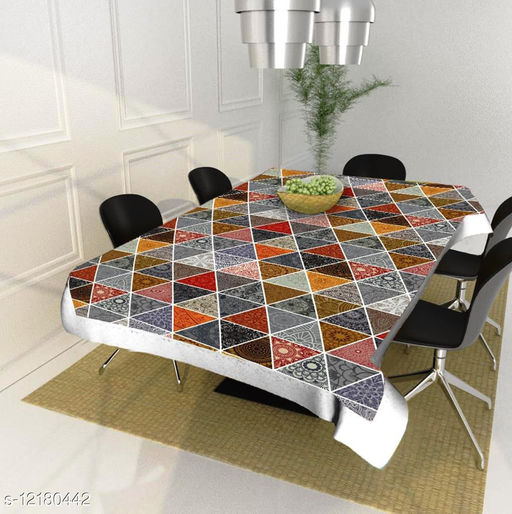 Newleaf Trends dinning table cover cloth 4 seater plastic ( 40x60 Inches )