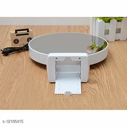 Personalized Customized Magic Mirror Cum Photo Frame Plastic LED Light Home Decor White