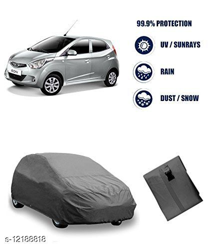 Car Body Cover For Hyundai EON Dust & Water Proof Colour Grey
