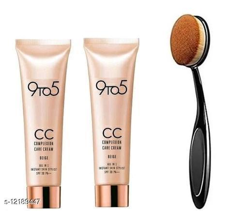 CC Foundation Cream 30g ( Pack Of 2 Pcs With Brush