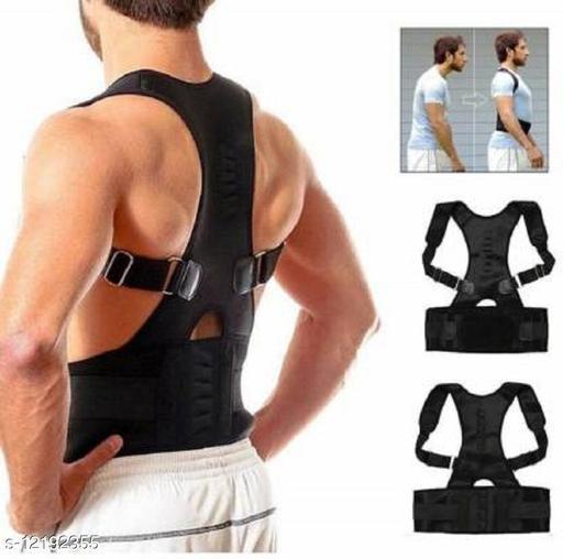 Unisex Magnetic Back Brace Corrector Therapy Shoulder Belt