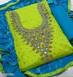 ANGOOR DESIGN CHANDERI DRESS MATERIAL