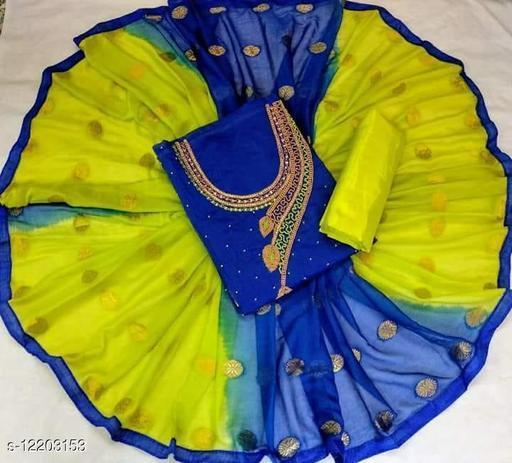 MORPANKH DESIGN CHANDERI DRESS MATERIAL